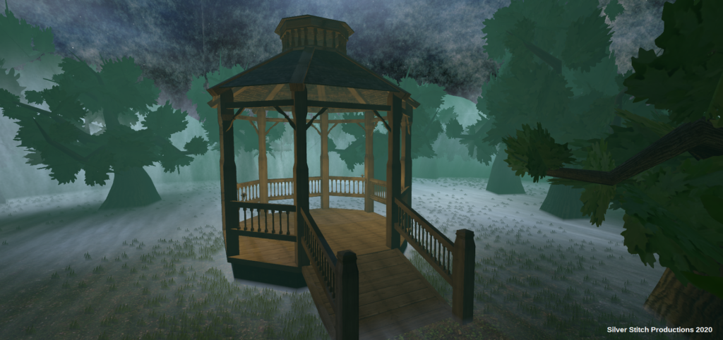 Gazebo in a Forest.